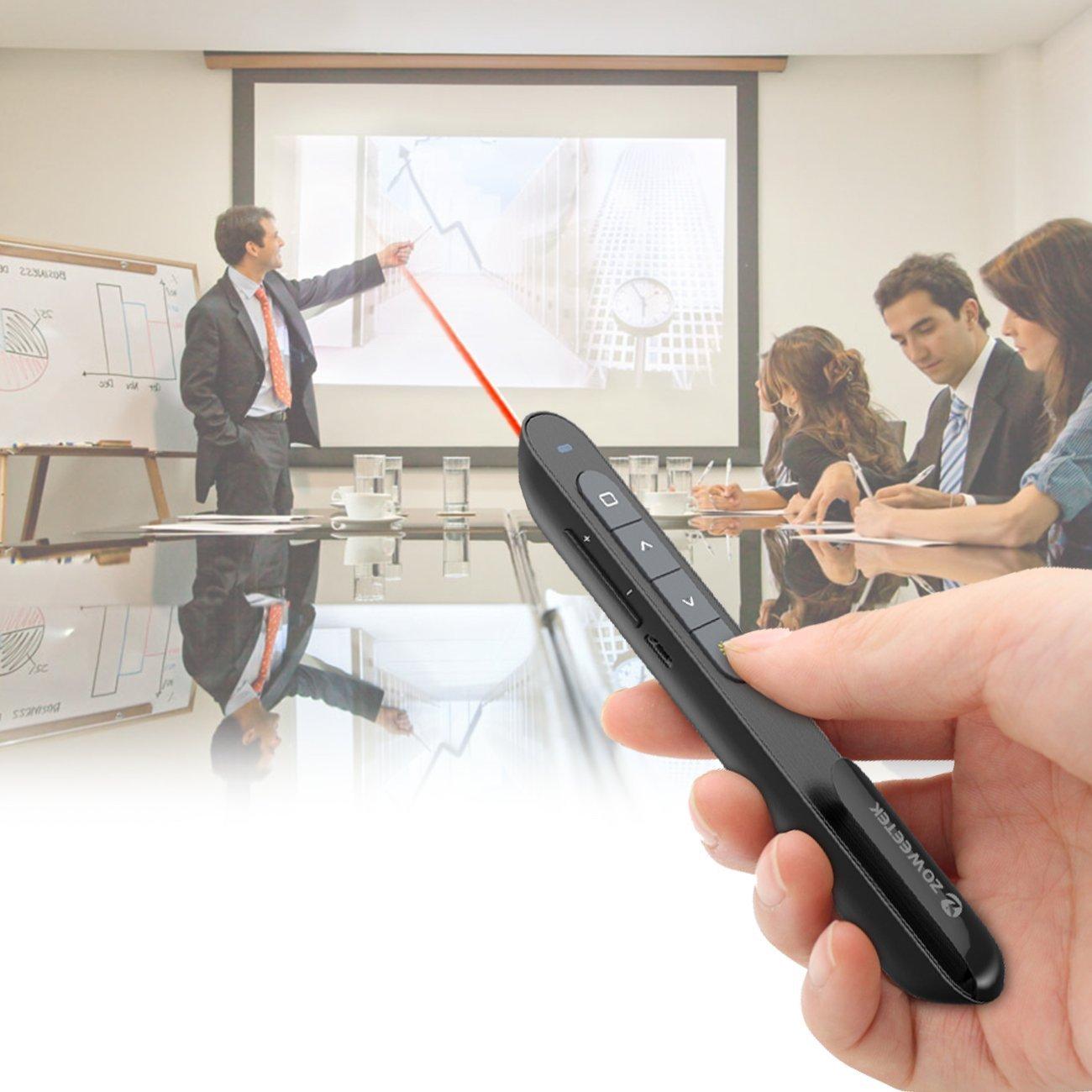 Zoweetek® Mando Inalámbrico para Presentación Powerpoint con Puntero