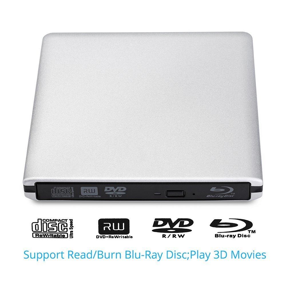 Lector / Unidad externa grabadora portátil de CD / DVD Blu-Ray