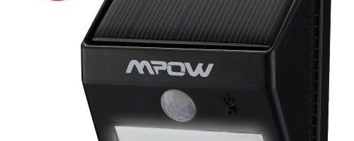 Mpow Foco LED Luz Solar Lampara con Sensor de Movimiento