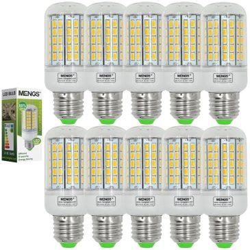 MENGS Pack de 10 Bombillas LED E27 15w
