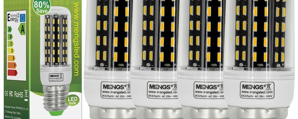 MENGS® Pack de 4 Bombillas LED E27