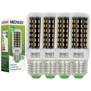 MENGS® Pack de 4 Bombillas LED E27
