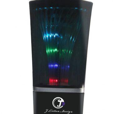 Altavoz portátil Bluetooth estéreo inalámbrico con Color LED