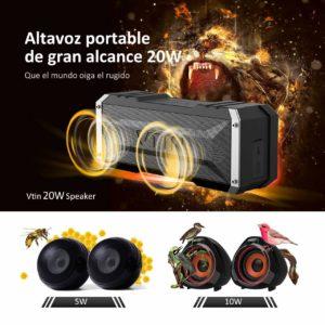 Altavoz bluetooth Vtin Punker Estéreo Premium 20W