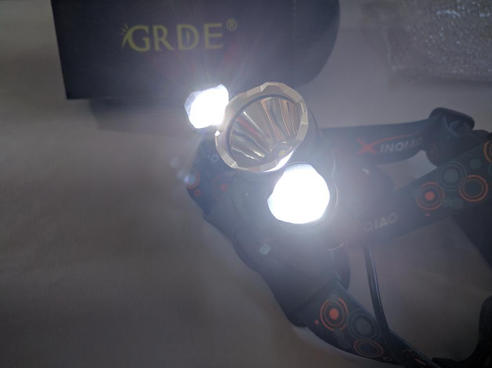 Ultra-Brillante LED Linterna Frontal de Cabeza De Alta Potencia (5)
