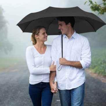 Paraguas de Viaje Plegable Automático Negro Clásico