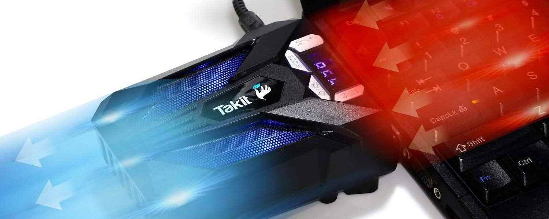 Refrigerador para ordenador portátil con ventilador de vacío Takit S01