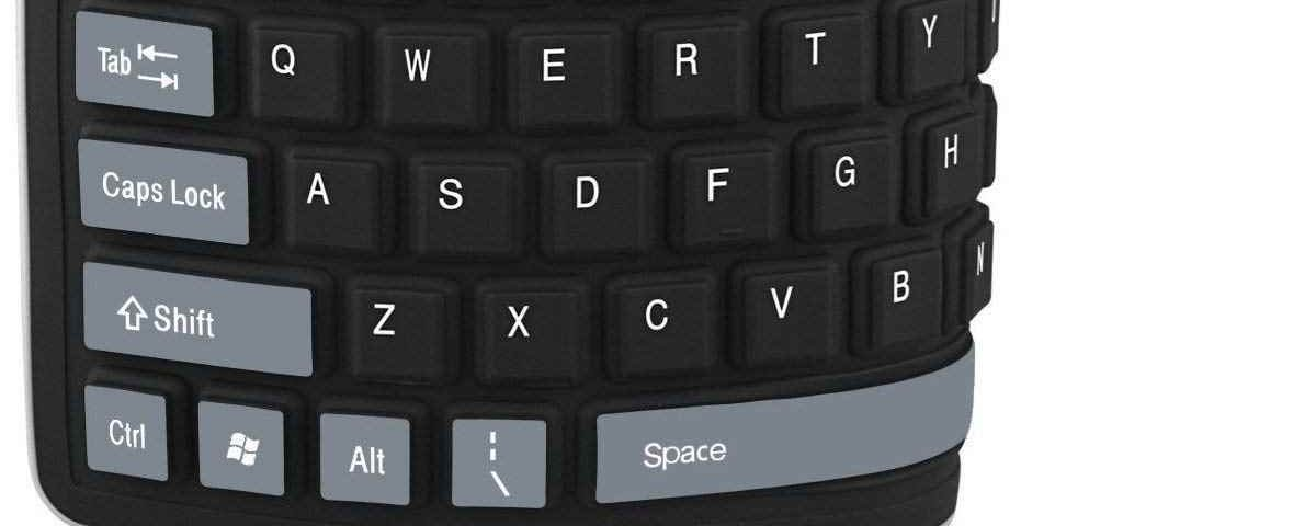 Teclado plegable de silicona enrollable