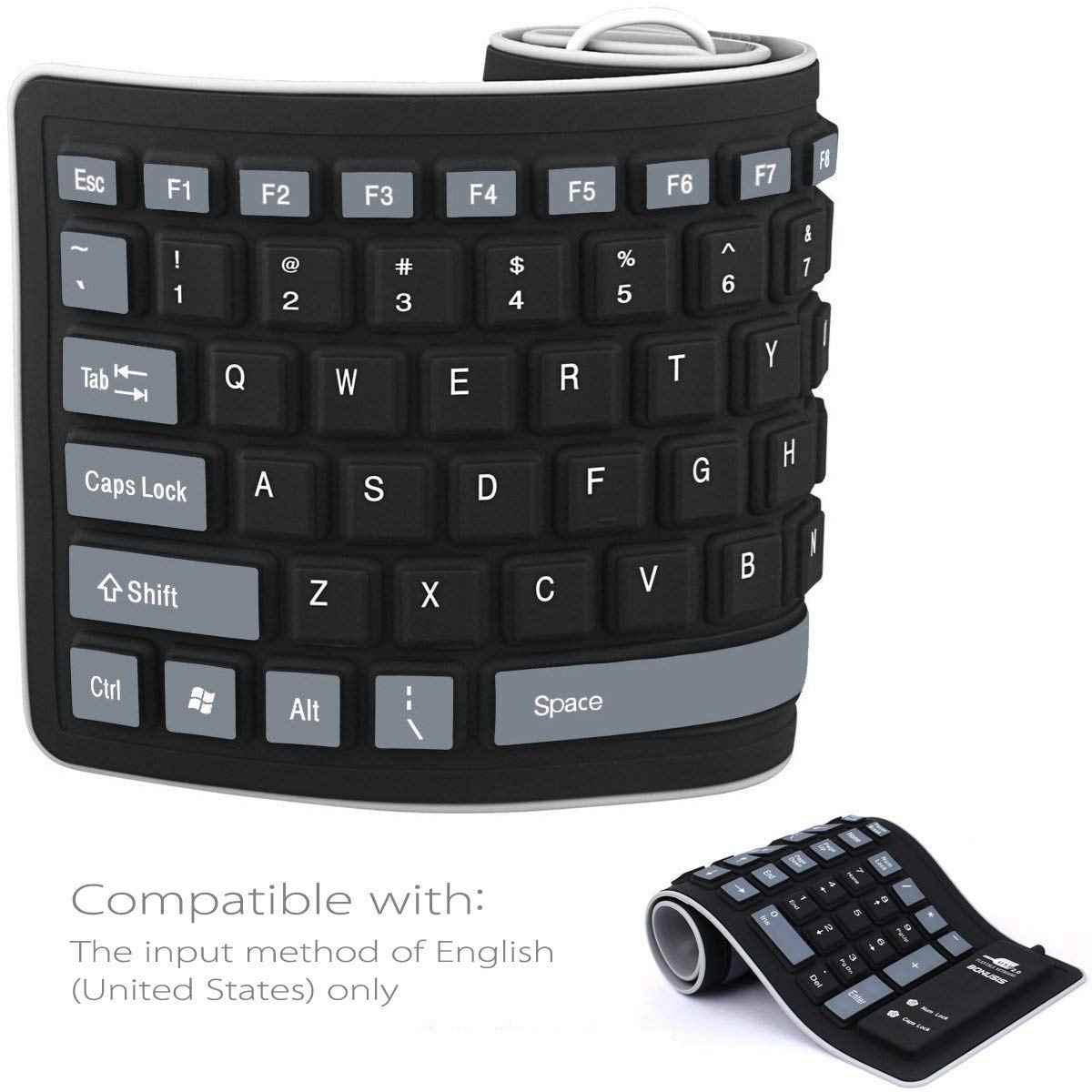 Teclado bluetooth 3.0 inalámbrico con Multi-touchpad 55