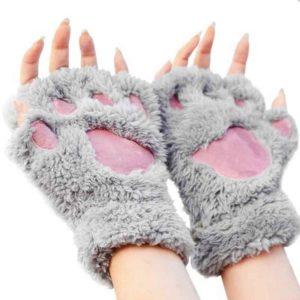 Guantes de huellas de gato