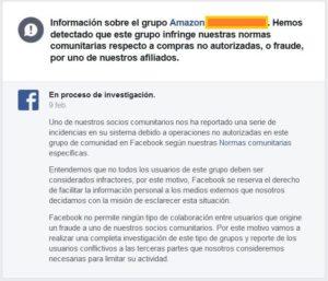 Investigación a grupos en Facebook