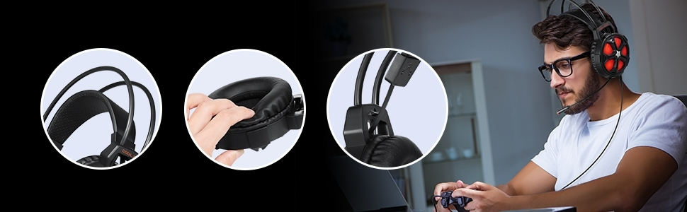 Auriculares Gaming Sades SA920 para PC-PS4 39